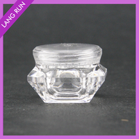 5g clear acrylic pot for nail powder