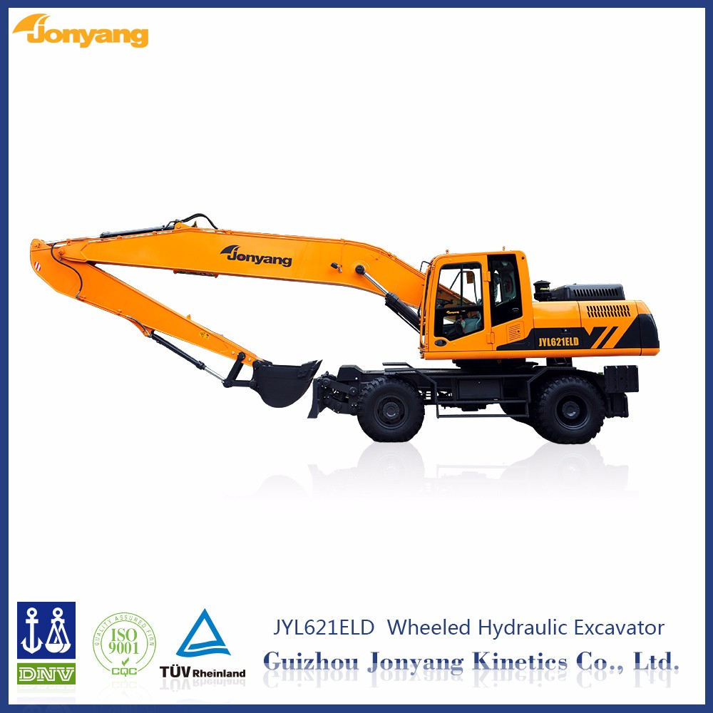 China JYL621ELD used middle wheeled excavator