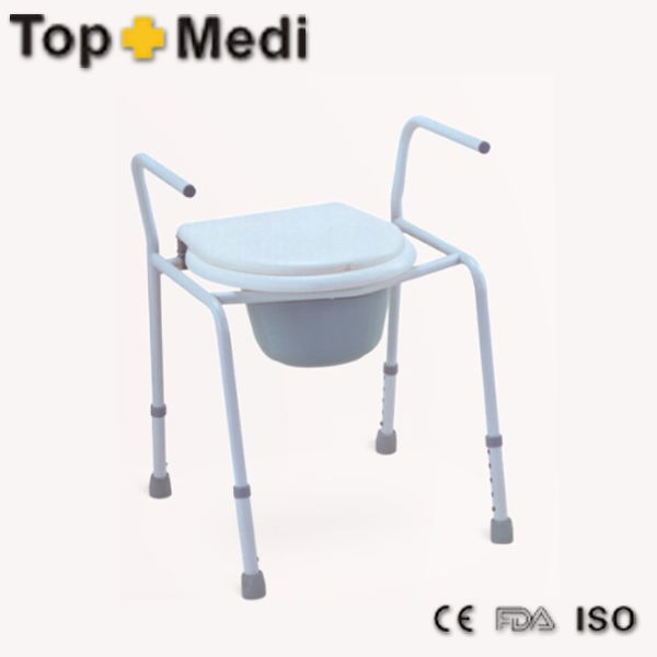 Rehabilitation Therapy Supplies Powder coating steel Bedside Commode Chair for invalid or disabled person invalid chairs