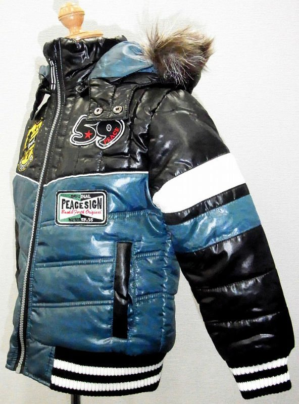 Boy Down Motor Cycle Jacket kids beautiful model dresses boy underwear models apparel party