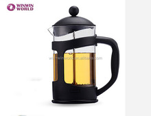 Promotional 350 ML Family Drinking Red Plastic Coating Coffee French Press