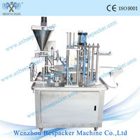 XBG-900 series rotary type automatic drink liquid soda cup filling &sealing machine