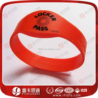 Hot Sale Engrave or Silk Screen Printing ISO14443A Silicon RFID Wristband Tag