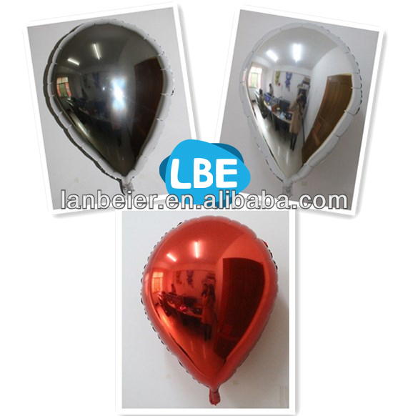 Wholesale different colors foil material water drop balloon