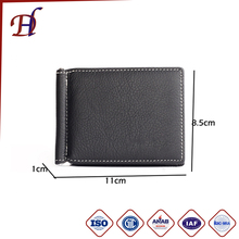 Wholesale Stainless Steel Coin Luxury Money Clip Custom Leather Metal Wallet Money Clip
