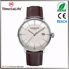 2017 New style Top 10 Wrist Watch Brands Stainless Steel Japan Quartz Movement With Date Unisex Luxury Wrist Watch