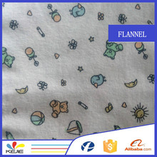 stock flannel cartoon cotton print cheap wholesale fabric