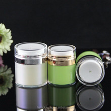 sample jars plastic factory lotion bottle cosmetic dispenser empty packaging bottles airless small cosmetic jar 50ml bottle