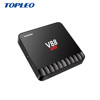 More attractive than mx8 design V88 piano tv box android 4K 4gb ram 16gb rom Android TV box