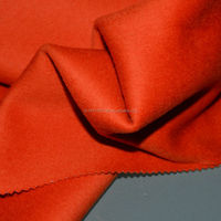 Orange double side wool fabric 100% wool fabric