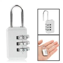 Amazon Hot Selling 3 Digitals Metal Secure Pad Locks, Resettable Combination Padlock