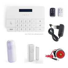 indoor house guard device GSM lcd panel piezo alarm system with rf transceiver module