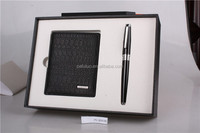 Business gift wallets and pen sets