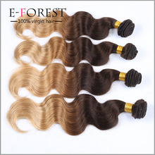 Fashion Virgin Russian Body Wave Ombre Hair Extensions Three Tone Ombre Russian Hair Weave 4 Bundles Lot Fast Delivery