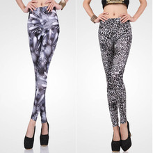 Slim fit milk silk fabric women leggings made in China pattern leggings for women