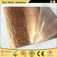 2B, BA, Mirror, HL, Embossed, Vibration, Satin brushed, Sand Blast, Etched stainless steel sheet