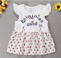 CB1366 stylish summer baby girls frock design