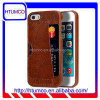 Card Slot Snap Cover Premium Leather Case for Apple iPhone SE / 5S / 5
