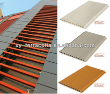 Foshan red grey yellow white terracotta facade panel for exterior curtain wall decoration cladding exterial facade panel