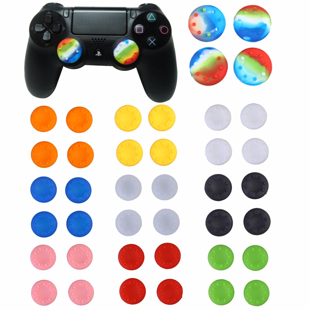 Silicone Analog Controller Thumb Stick Grips Cap Cover for Sony Play Station PlayStation 4 PS4 Xbox One FC Game Accessories