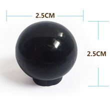 wood round knob black painted 25mm mini wooden drawer knobs