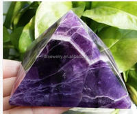 Factory selling natural quartz dream amethyst pyramid beautiful color amethyst quartz healing pyramidl for gift