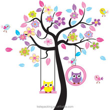 Owls Wall Stickers Kids Bedroom Decorations Nursery Cartoon Children Girls Home Decals 78ab Animals Mural Arts Tree Wall Decal