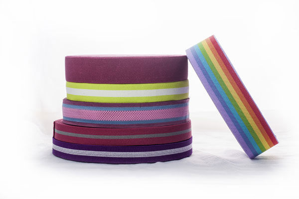 best selling polyester satin decorative rainbow stripe ribbon