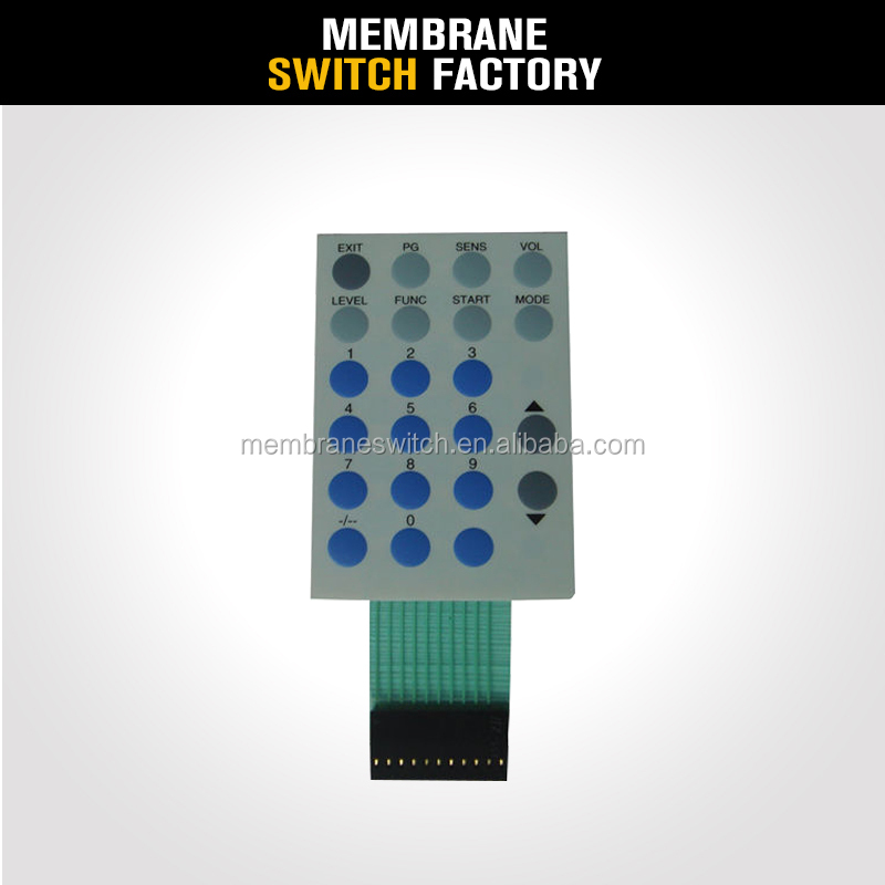 high quality custom matte round tactile membrane switch, membrane keyboard