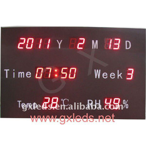 with certificate CE High quality alibaba express the newest 2011 electronic led calendar