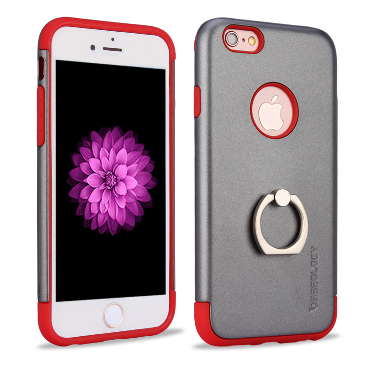 2016 Hot sale 2 in 1 Mars Metal Ring Cell Phone Case, OEM For i phone7 Case