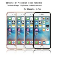 2016 Newest! Prefect fit full size 9H 3D titanium alloy Tempered Glass Screen protector/film for iphone 6s plus
