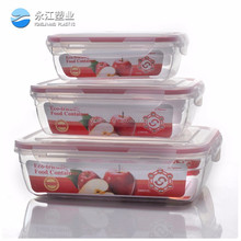 2016nested food storage container set divided plastic food container food glass container