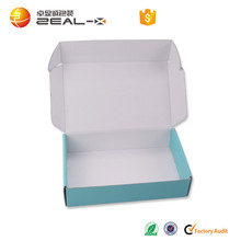 custom logo printed corrugated packaging paper box for clothing