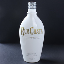 china manufacturer flat high quality white glass bottle for liquor,juice,wine,vodka,whisky