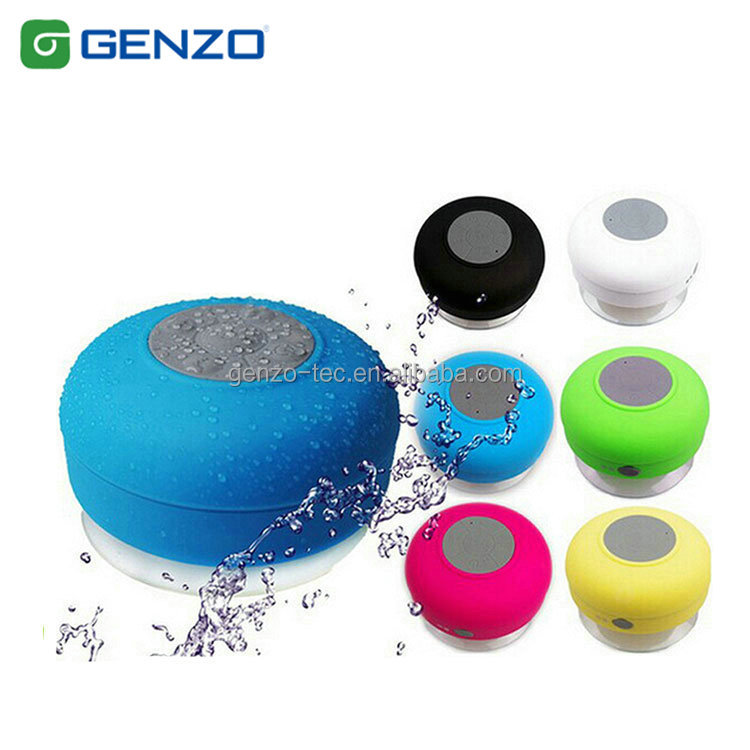 2017 New design suction-cup Level 4 bathrooms waterproof bluetooth speaker