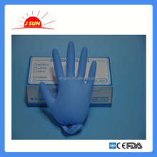 Blue nitrile gloves for food/medical/examination use