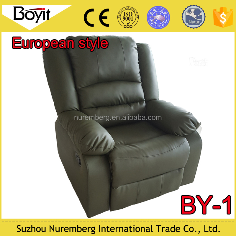 cheap indoor PU fabric single recliner sofa,small recliner sofa,electric recliner sofa