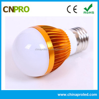 High power factor above 0.95 aluminum e27 led light bulb 2000k-6500k color temperature