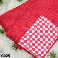 2015 new fashion design Hot sell Different kinds of fabrics with pictures guipure lace fabricG025