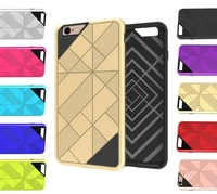 New 3D Armor Case TPU+PC Hard Back Cover Shockproof Silicone Phone Case For iPhone 6 6S CA1792