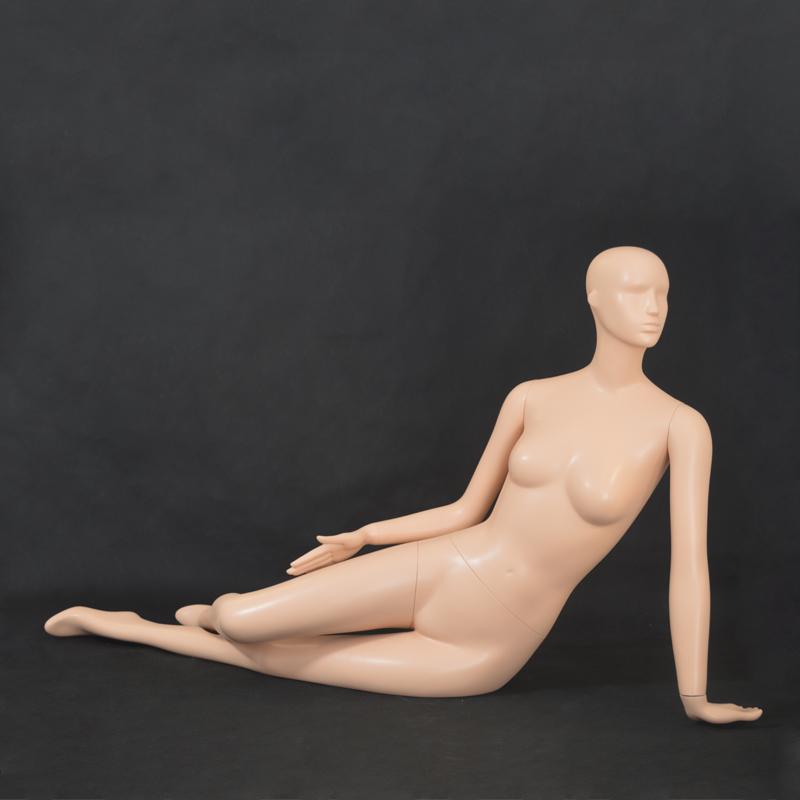 Underwear and dress display full body female mannequin in lying position on sale
