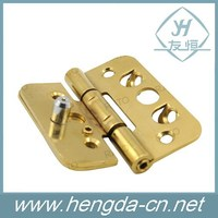 Gold plated heavy duty steel gate hinges