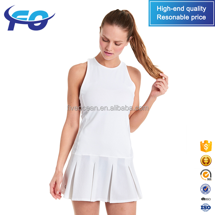 Wholesale Custom Eco-Friendly Tennis Sports Wear Tennis Clothing Mesh Women Tennis Dress