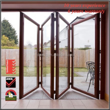 Wood Interior Folding Doors Horizontal Double Glazed Glass Doors China Aluminium Bi Folding Soundproof Folding Interior Door
