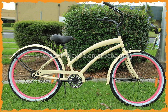 2017 new chopper style beach cruiser bike ladies single speed beach cruiser
