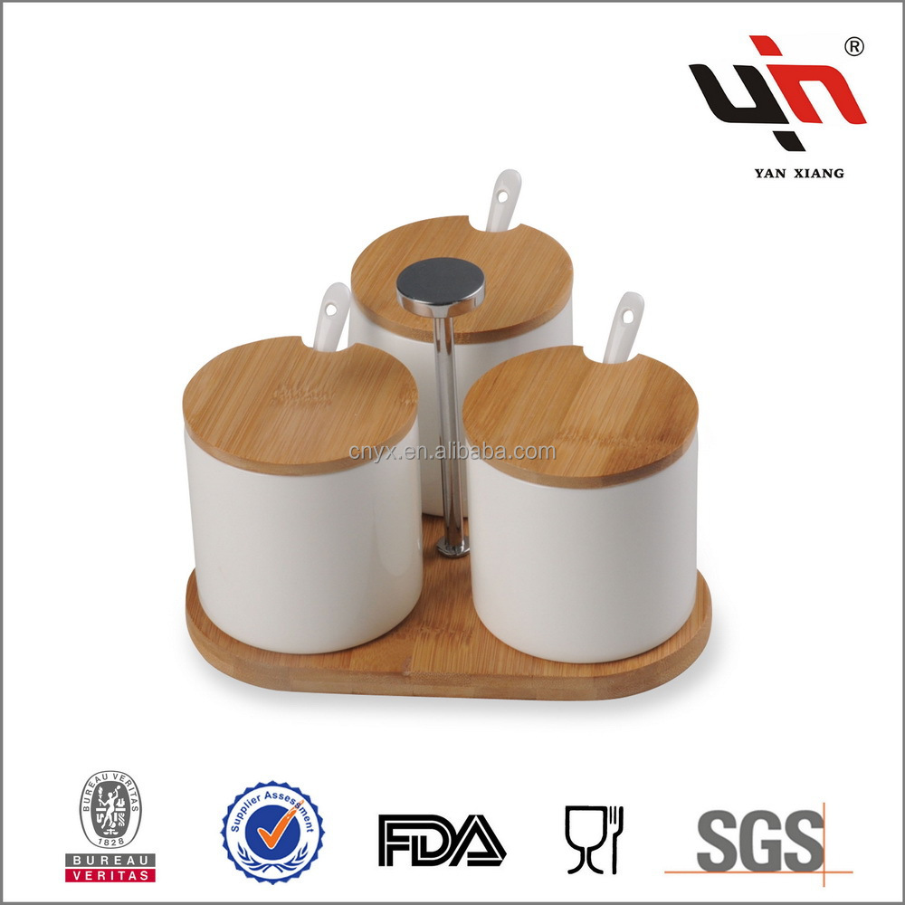 Super High Quality Ceramic Spice Jars With Lid