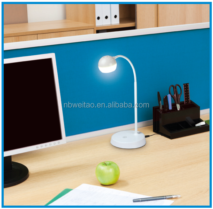 USB LED desk Lamp gooseneck Table Lamp 3W, Touch Control