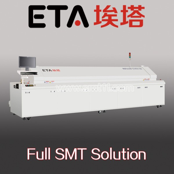 Conveyor large-size solder oven with 8 eight heating zones ETA E8