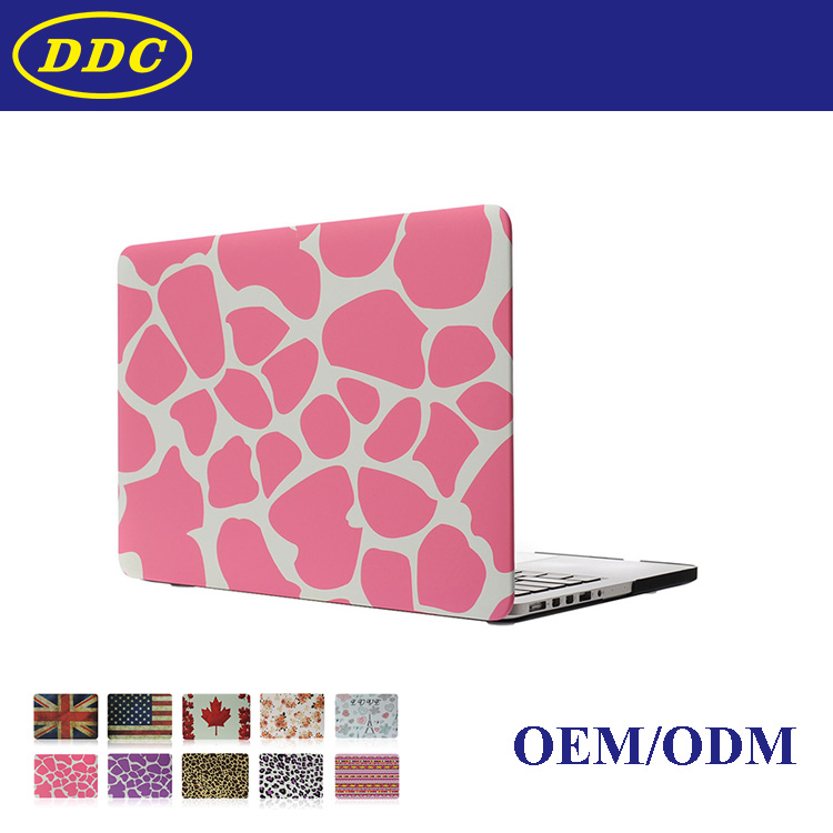 Pink color Leopard Newest 15.4'' inch water paste injection PINK leopard hard PC shell cover case for Mac Book 15.4'' Air